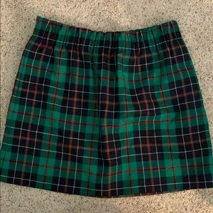 J crew city mini dublin tartan plaid skirt size 8